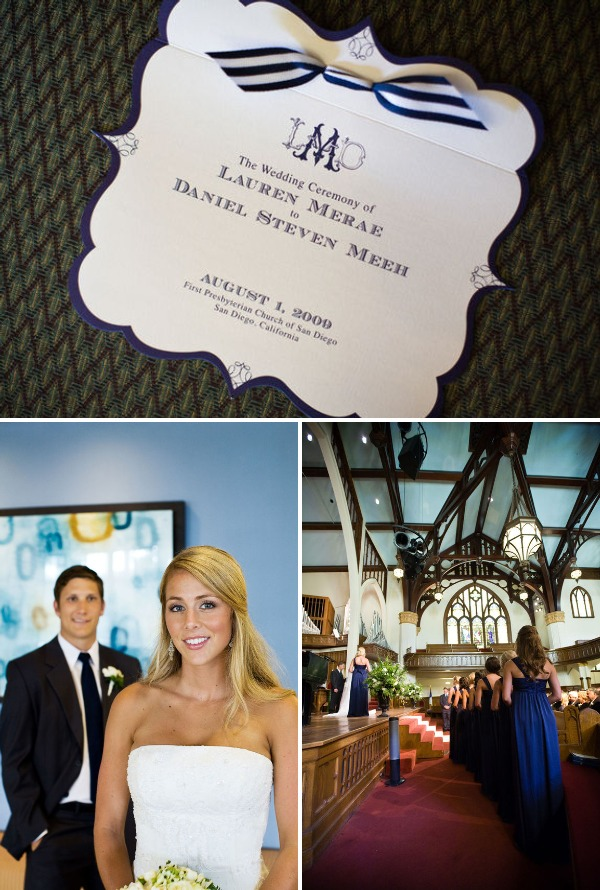 Nautical wedding colors featured in this wedding