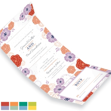 Bloom Seal and Send Wedding Invitations