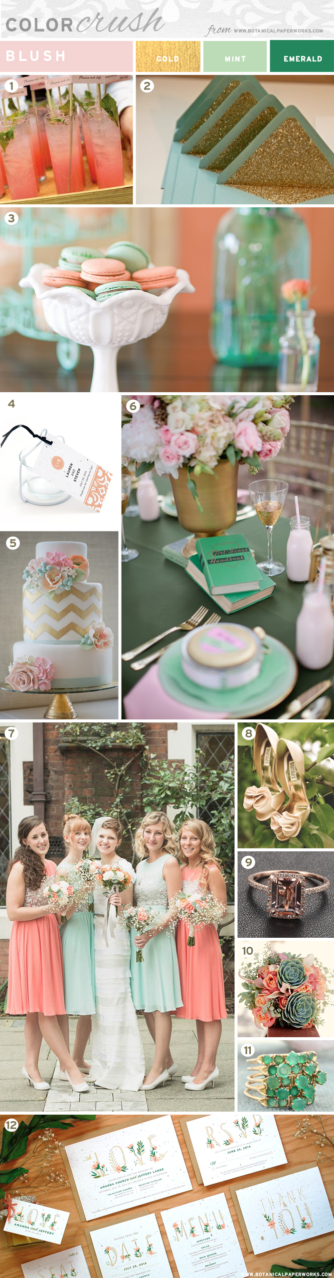 Blush with Mint and Gold