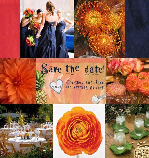 red-orange-navy-carribean-style-wedding-board-created-by-itsajaimethingdotcom