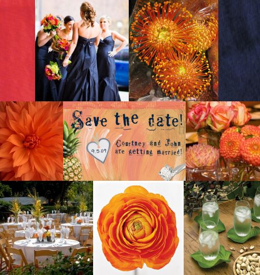 red-orange-navy-carribean-style-wedding-board-created-by-itsajaimethingdotcom