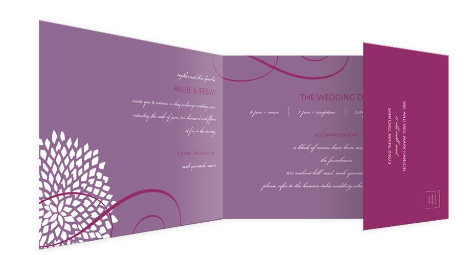 Purple seal and send invitation