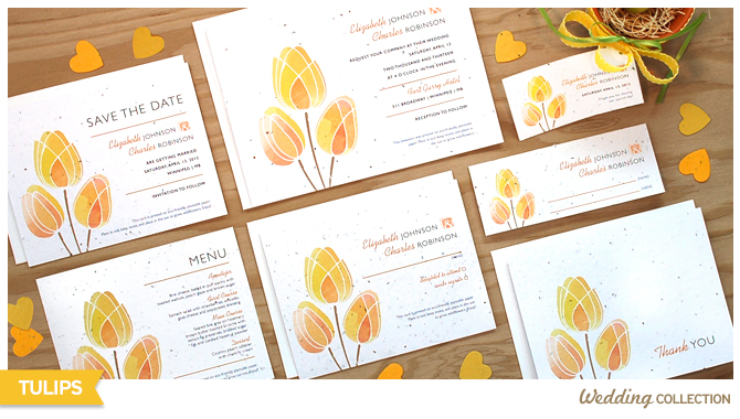 Tulip invitations that grow wildflowers
