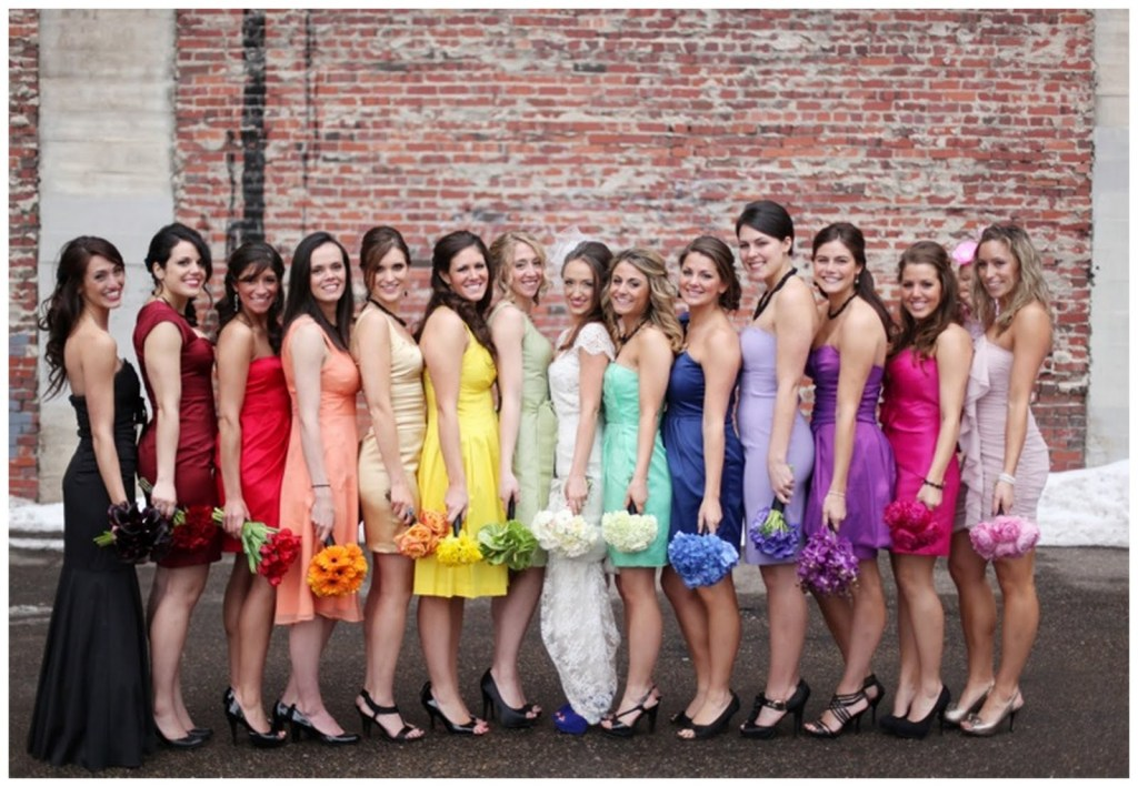 Rainbowish Bridesmaids