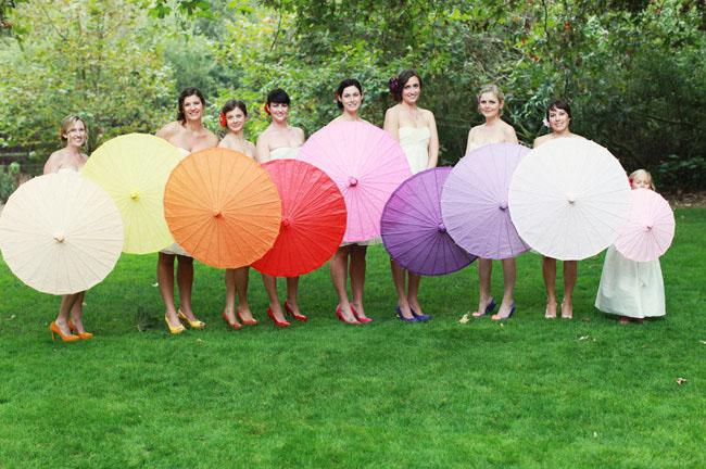 Rainbow parasols