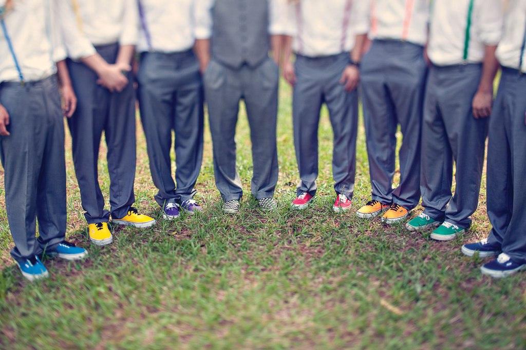 Rainbow groomsmen