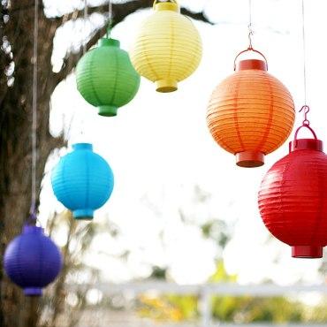 Rainbow lanterns