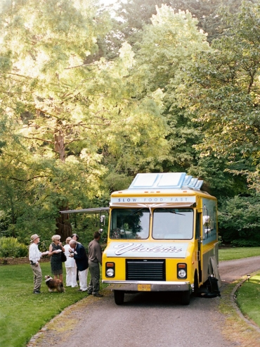 Food truck wedding reception
