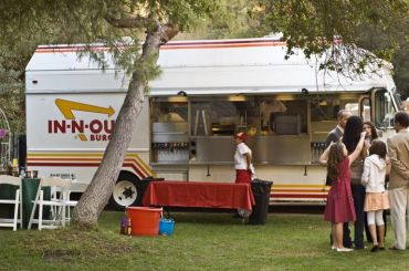 In n Out Burger Caters Wedding
